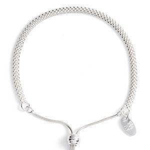 ARGENTO VIVO Mesh Slider Bracelet - Silver